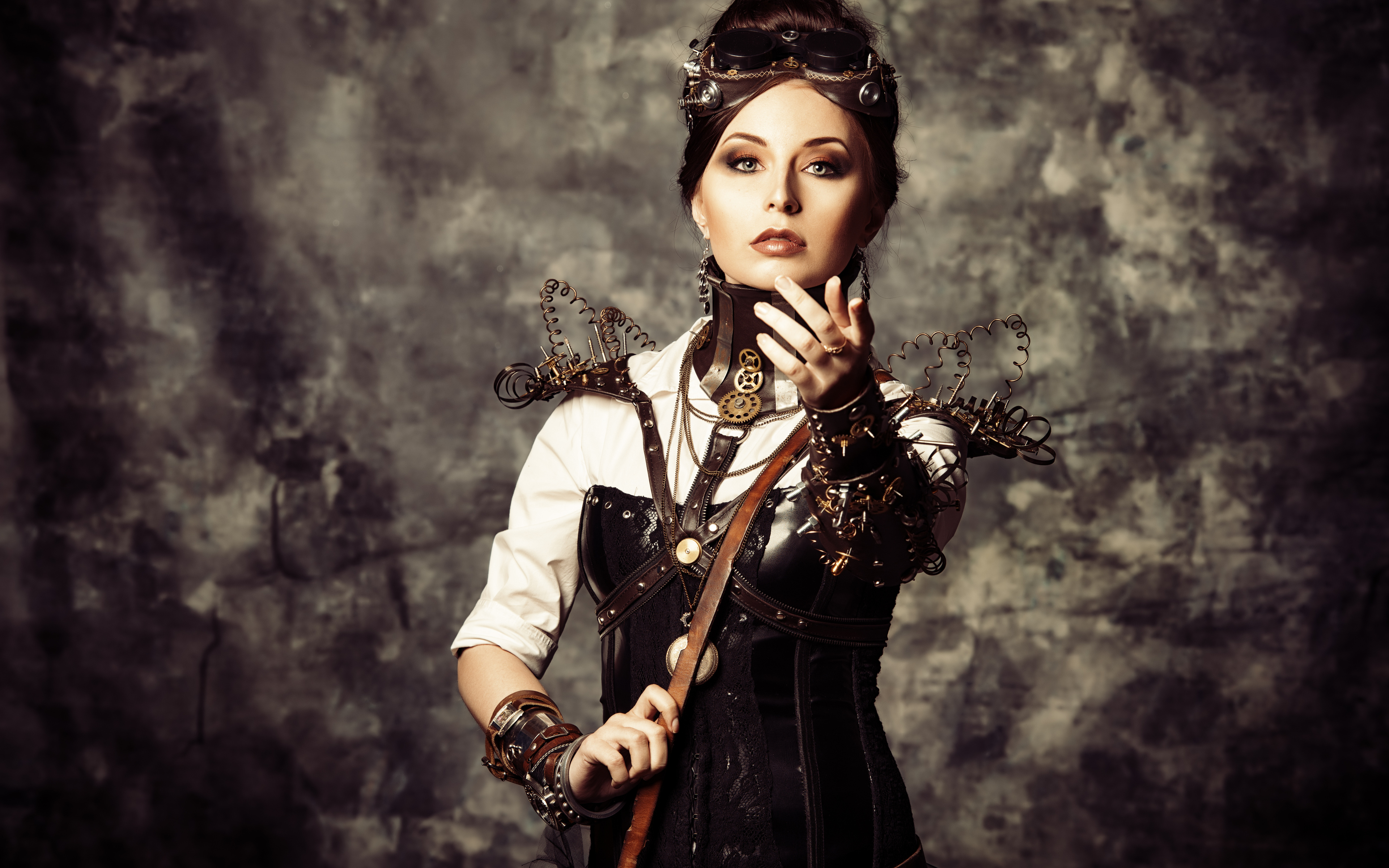 wallpapers steampunk girl eyes - photo #25