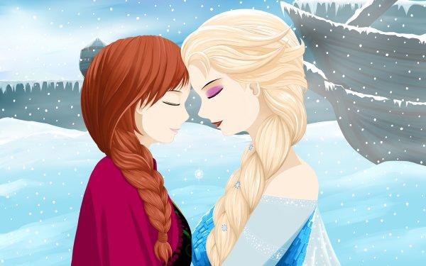 Movie Frozen Anna Elsa Snow HD Wallpaper   Background Image