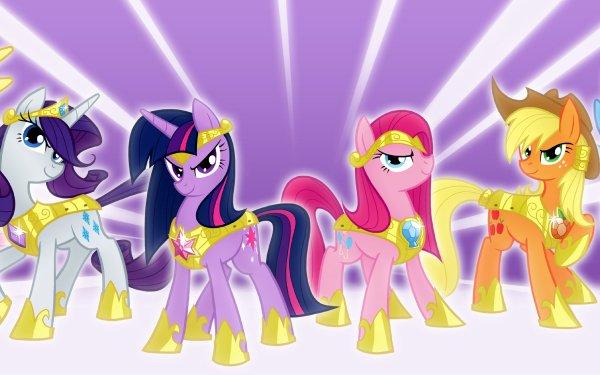 TV Show My Little Pony: Friendship is Magic My Little Pony Twilight Sparkle Applejack Fluttershy Rarity Pinkie Pie Rainbow Dash HD Wallpaper | Background Image