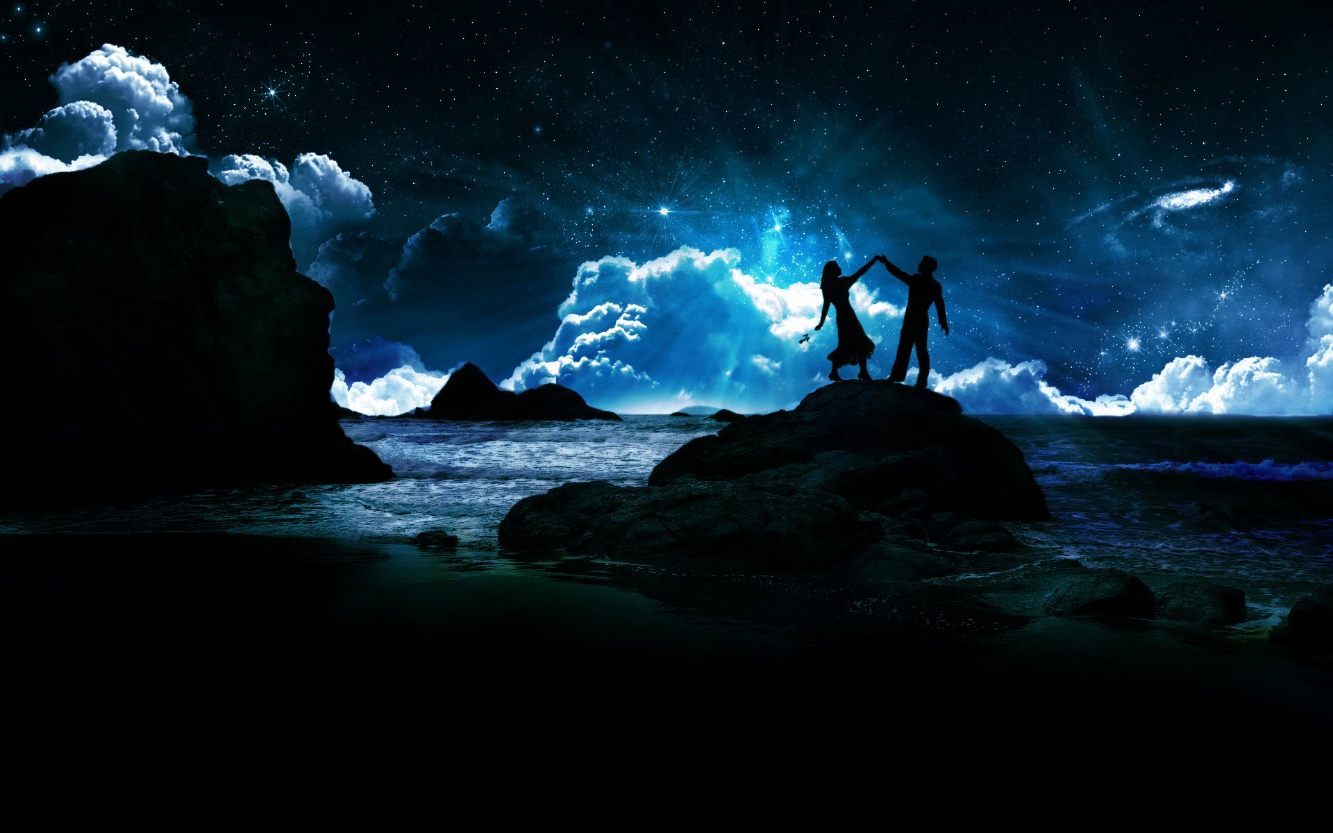 Dancing In The Moonlight Under The Stars Hd Wallpaper Background