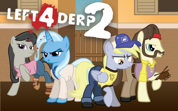 TV Show Crossover Derpy Hooves Trixie Octavia Melody HD Wallpaper | Background Image