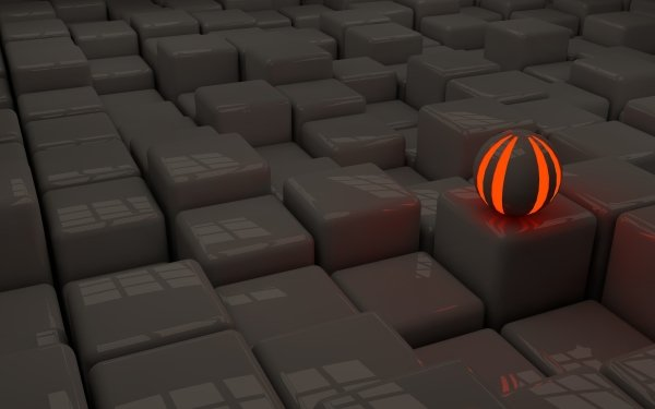 Abstract Ball 3D CGI HD Wallpaper | Background Image