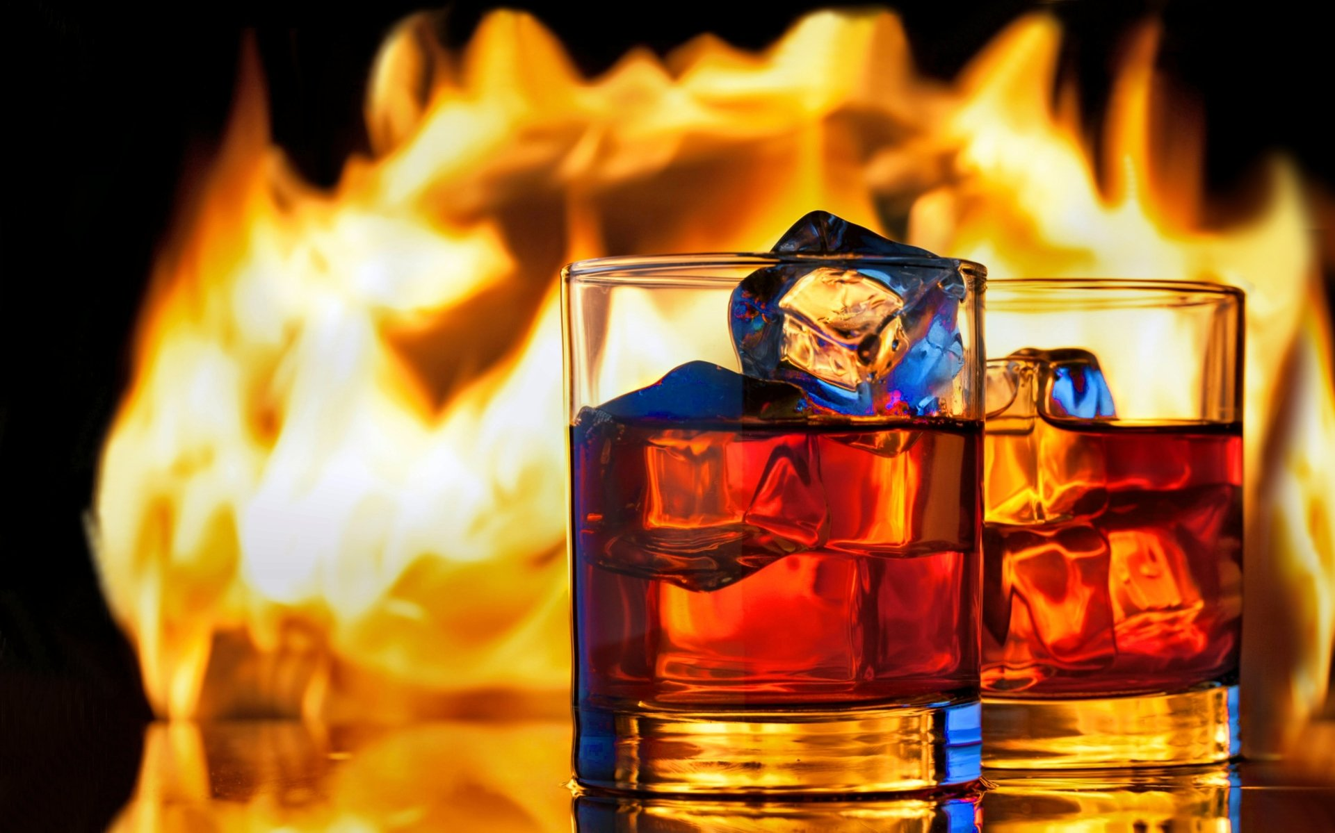 Food - Whisky  Fire Ice Drink Wallpaper