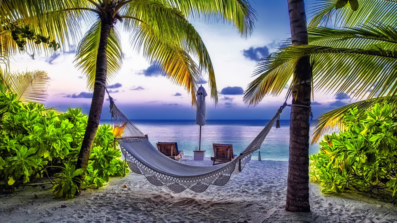 My Hammock Wallpaper And Background 1366x768 Id 512007