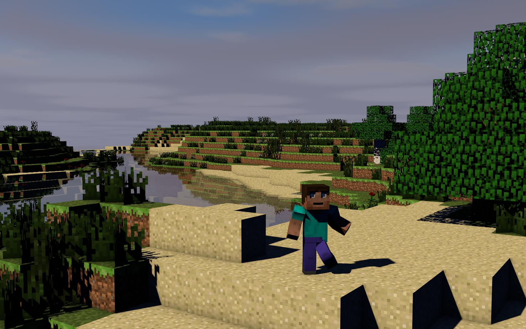 Plano De Fundo Minecraft: Stuck, On Island Papel De Parede And Planos De Fundo