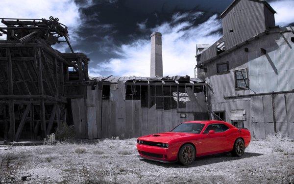 Vehicles Dodge Challenger SRT Dodge Dodge Challenger Dodge Challenger SRT Hellcat Red Car Car Muscle Car HD Wallpaper | Background Image