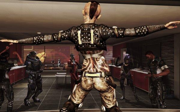 Video Game Mass Effect Jack Jacob Taylor Garrus Vakarian Samara Tali'Zorah HD Wallpaper | Background Image