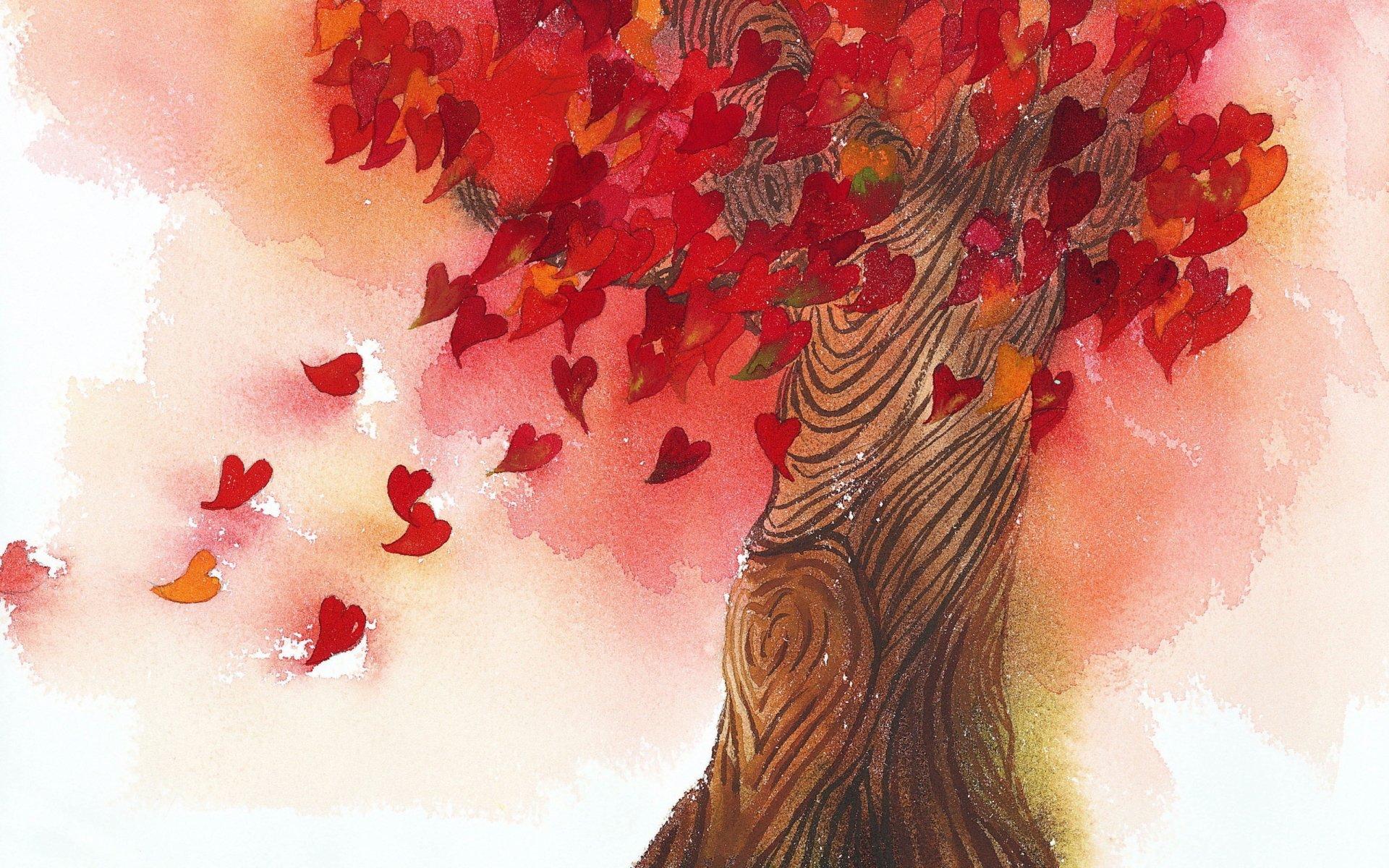 Artistic - Tree  Heart Wallpaper
