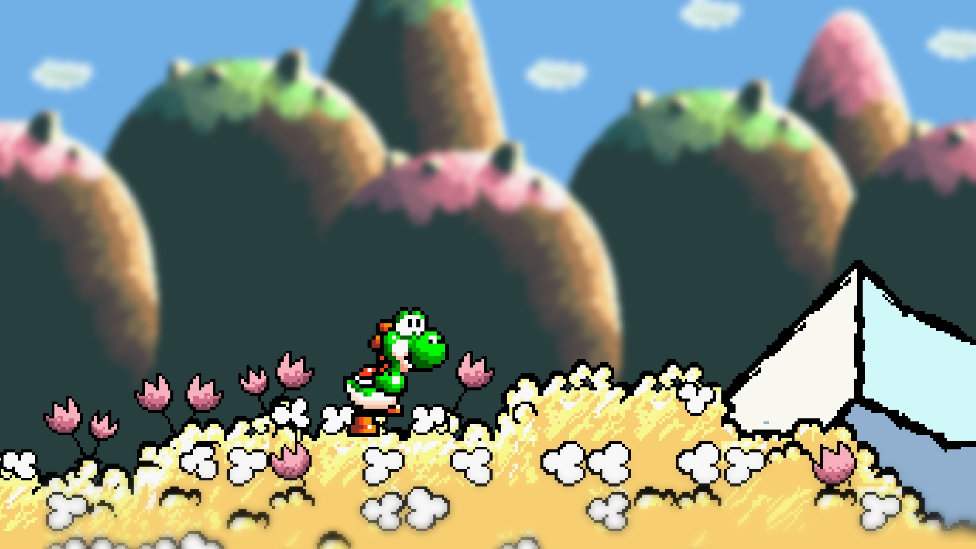 Image result for Yoshi's island 1920x1080