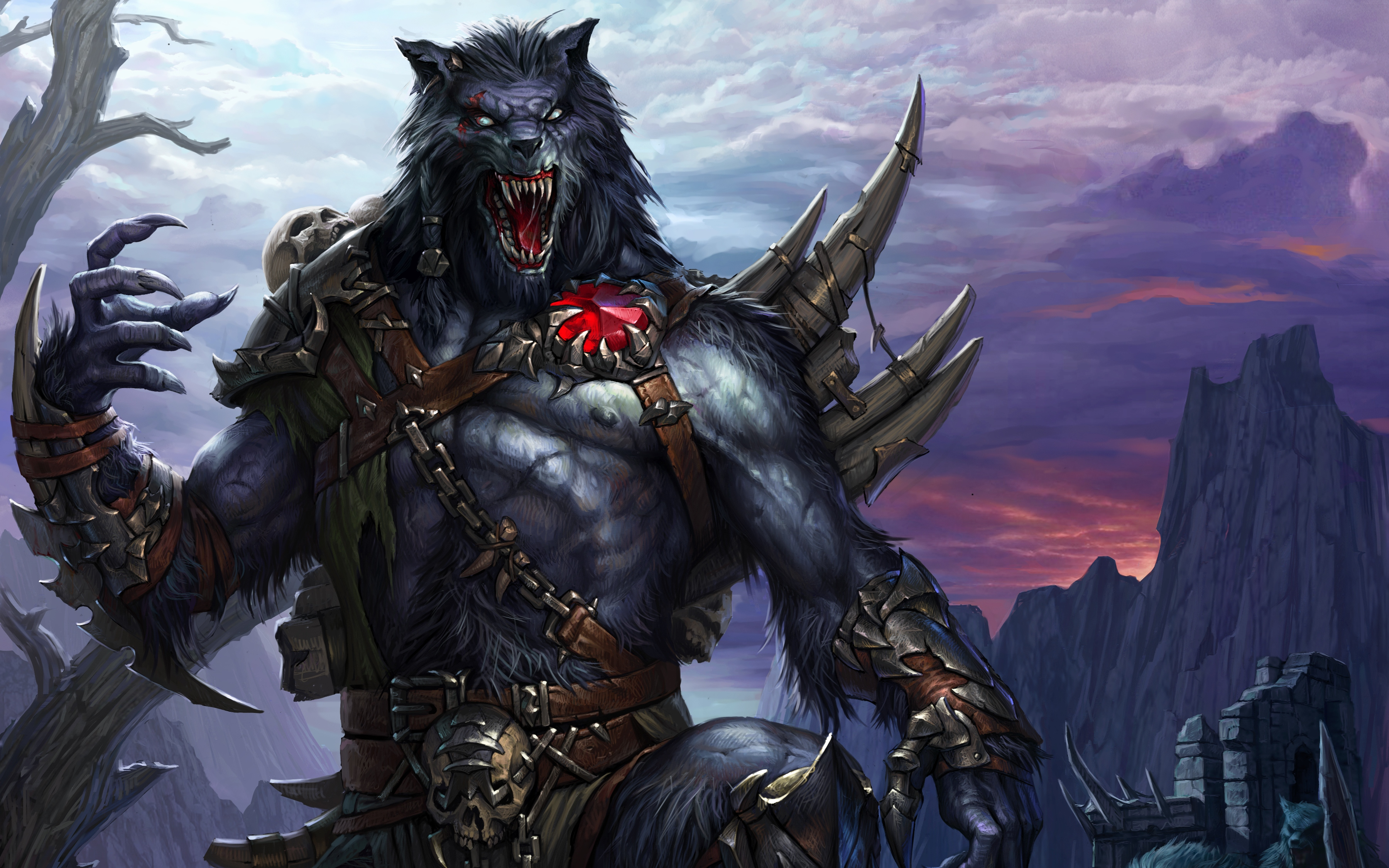 werewolf full hd wallpaper and background 3600x2250 id