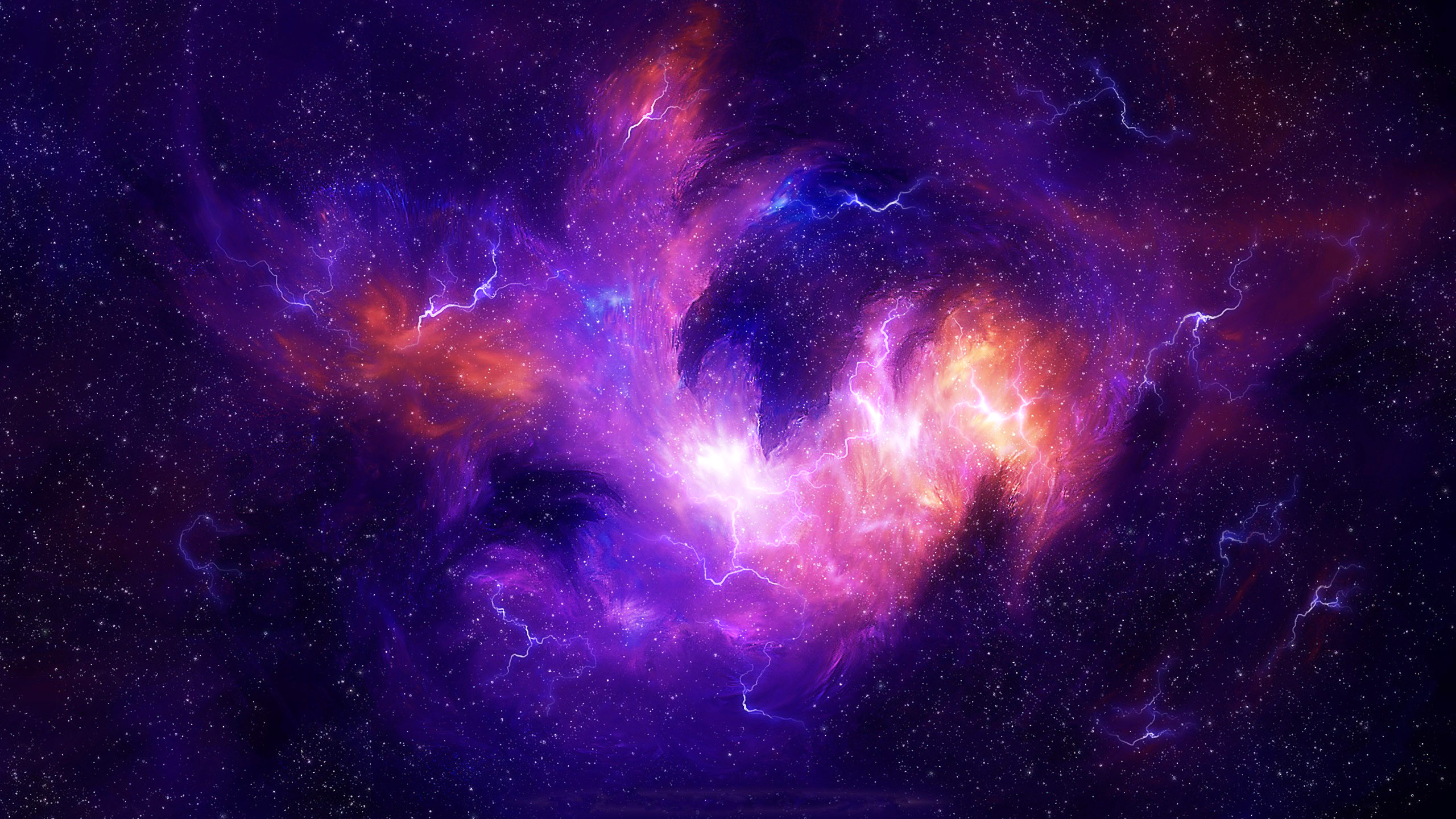 Space Storm Full HD Wallpaper And Background Image