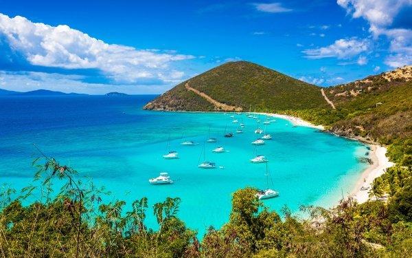 Earth Lagoon Virgin Islands Tropics Coastline HD Wallpaper | Background Image