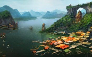 Fantasy - City Wallpapers and Backgrounds ID : 529251