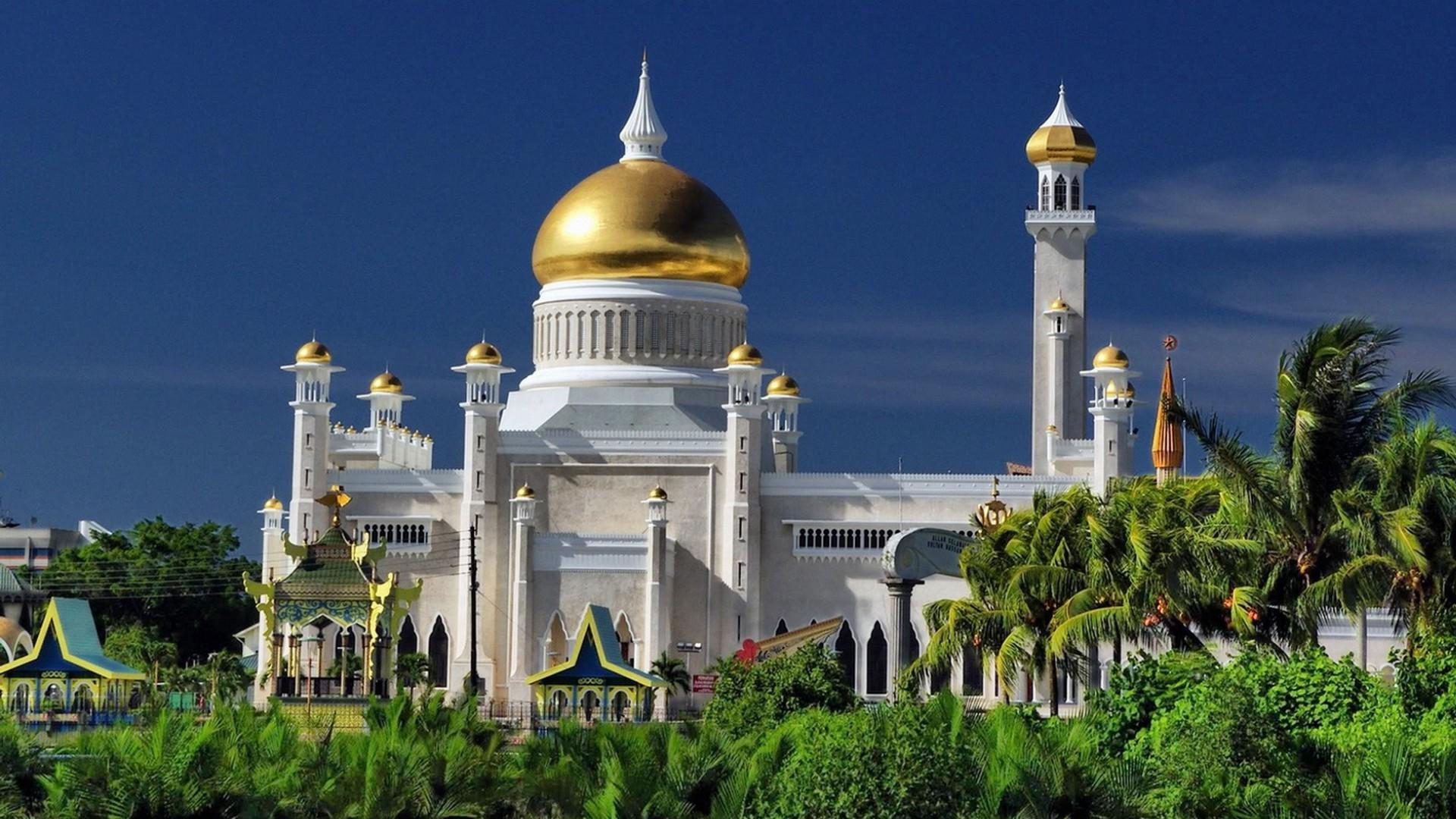 Omar Ali Saifuddin Mosque,Brunei Computer Wallpapers, Desktop