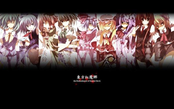 Anime Touhou Hong Meiling Patchouli Knowledge Sakuya Izayoi Remilia Scarlet Flandre Scarlet Cirno Reisen Udongein Inaba Reimu Hakurei Sanae Kochiya HD Wallpaper | Background Image