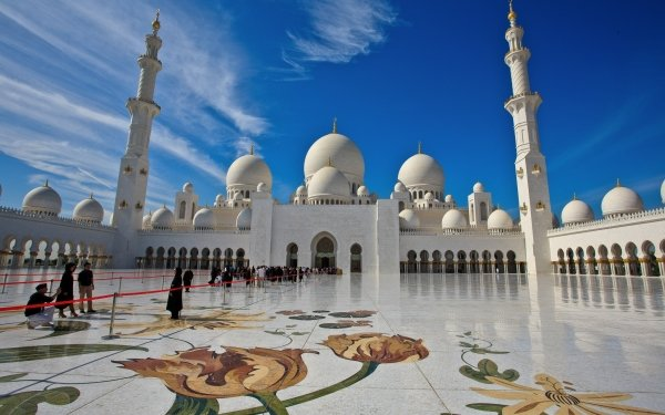 Religious Sheikh Zayed Grand Mosque Mosques Abu Dhabi United Arab Emirates HD Wallpaper | Background Image