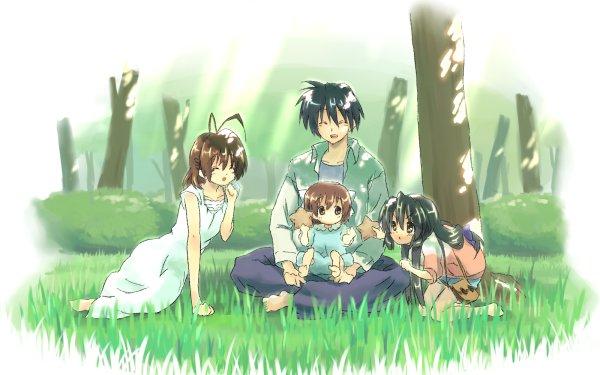 Anime Clannad Nagisa Furukawa Tomoya Okazaki Fuuko Ibuki Ushio Okazaki HD Wallpaper   Background Image