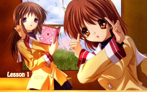 Anime Clannad Nagisa Furukawa Yukine Miyazawa HD Wallpaper | Background Image