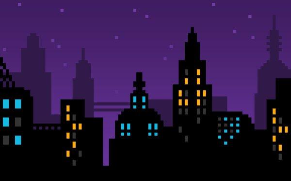 Artistic City Pixel Art HD Wallpaper   Background Image