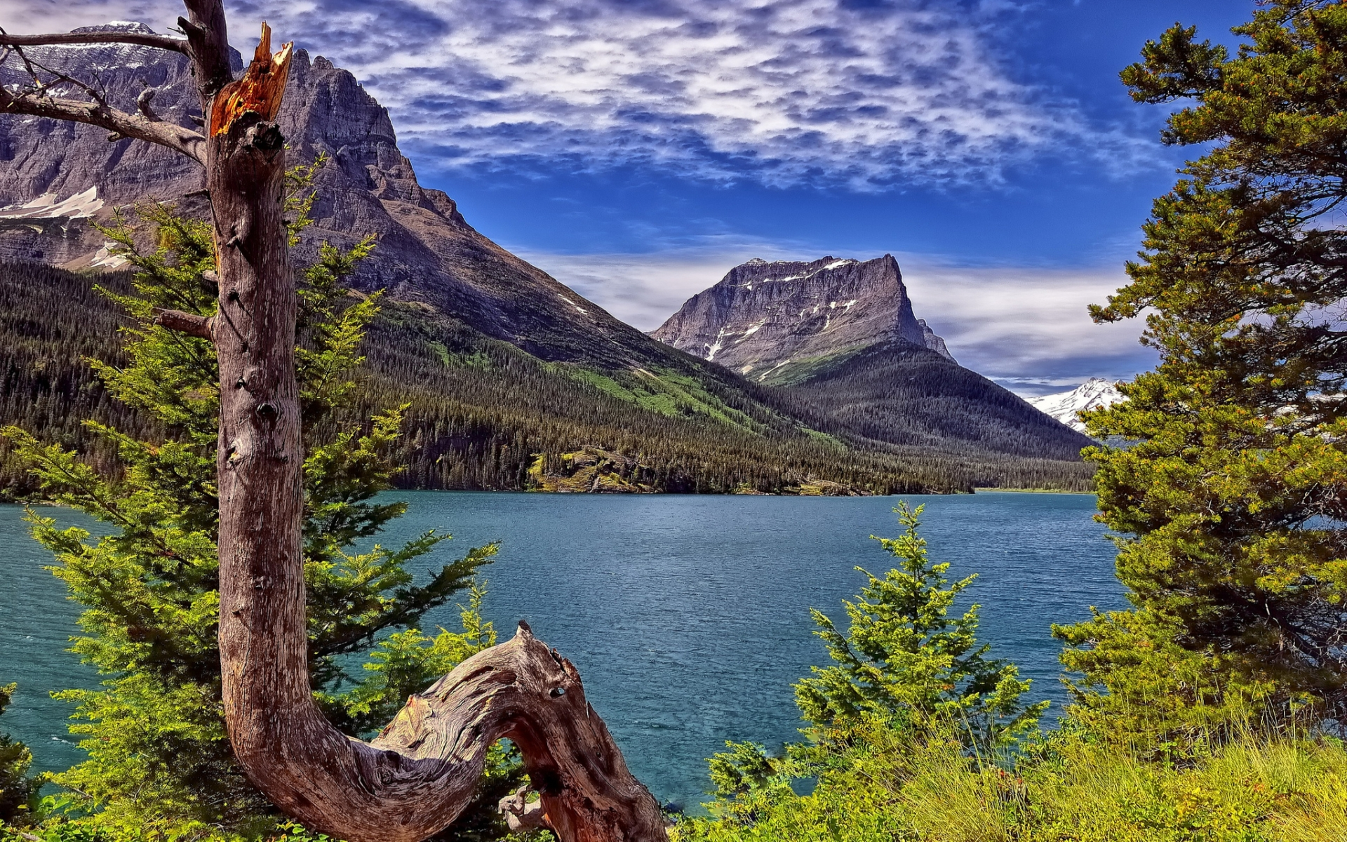 Saint Mary Lake Full HD Wallpaper And Background Image