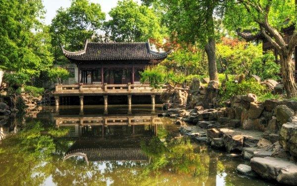 Man Made Yuyuan Garden Yuyuan Shanghai China Garden HD Wallpaper | Background Image