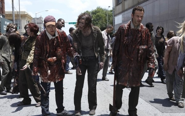 TV Show The Walking Dead Zombie Andrew Lincoln Rick Grimes Glenn Rhee Steven Yeun HD Wallpaper | Background Image