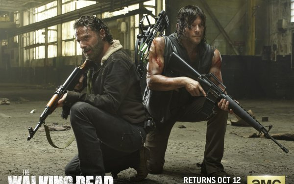 TV Show The Walking Dead Daryl Dixon Andrew Lincoln Norman Reedus Rick Grimes HD Wallpaper | Background Image