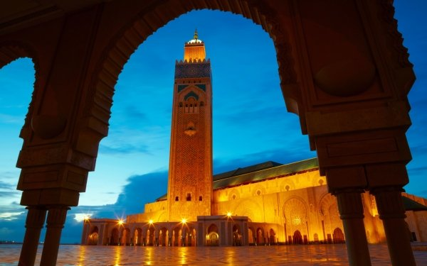 Religious Hassan II Mosque Mosques Morocco HD Wallpaper   Background Image