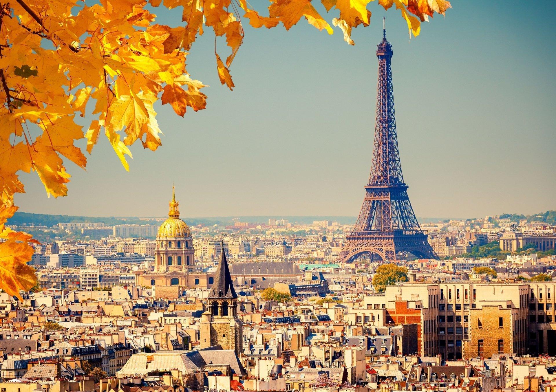 Man Made - Eiffel Tower  Paris France Foliage Wallpaper