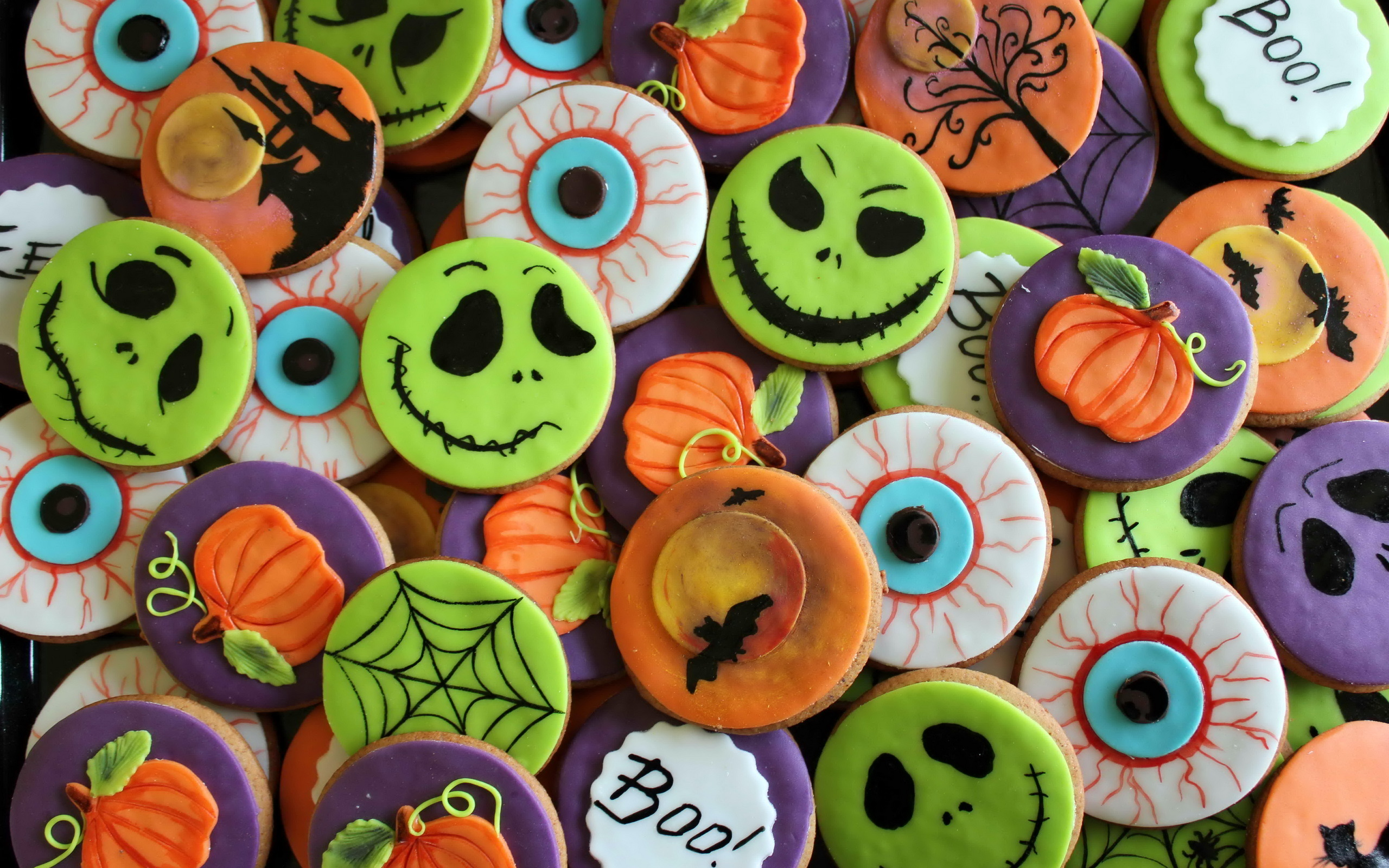 Halloween Cookies Full HD Wallpaper and Background | 2560x1600 ...