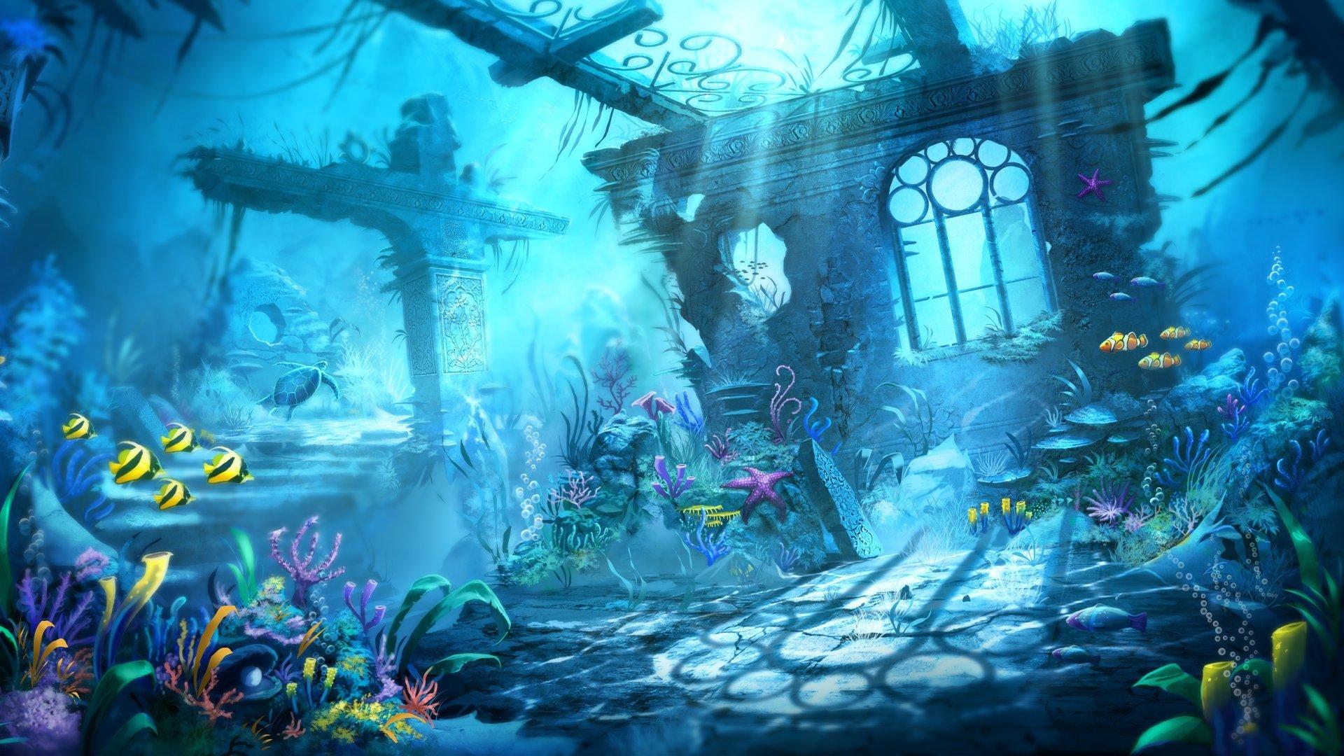 Video Game - Trine 2  Trine Artistic Underwater Fish Plant Building Sea Life Wallpaper