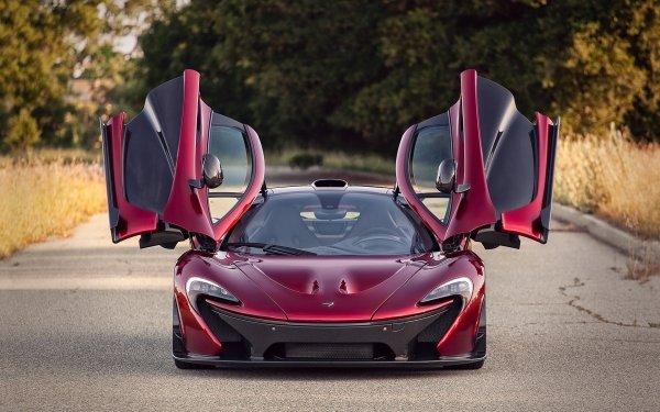 Vehicles McLaren P1 McLaren Crimson HD Wallpaper | Background Image