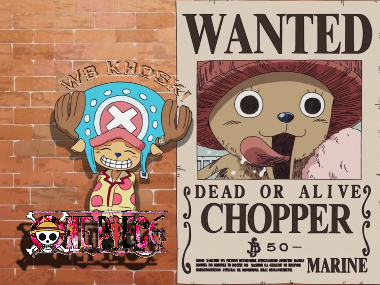 Dr Tony Tony Chopper Wanted 50 Beri Bounty By Wb Khoski Wallpaper
