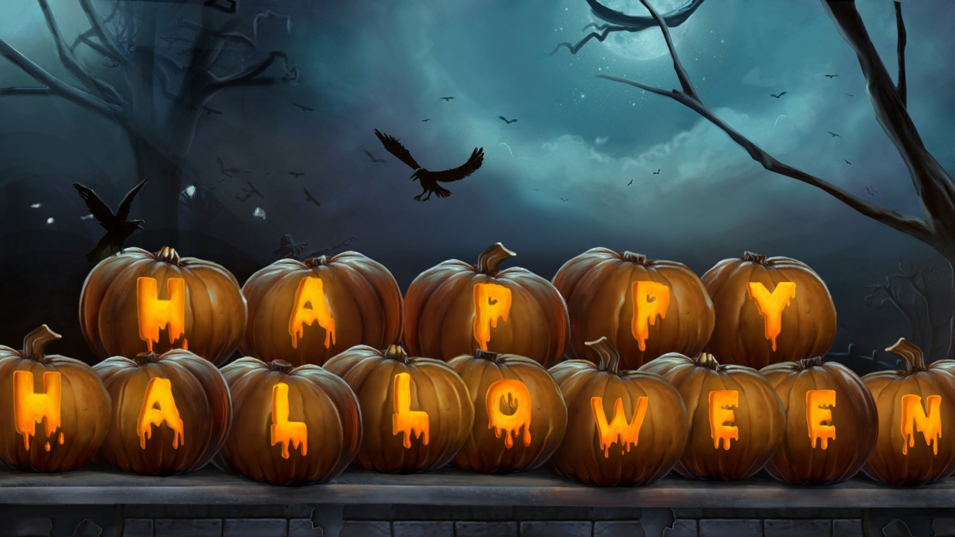 Halloween full hd wallpaper and background image - Scary halloween pumpkin wallpaper ...