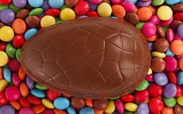 Holiday Easter Egg Candy Smarties Chocolate Colors Colorful Food Easter Egg HD Wallpaper   Background Image