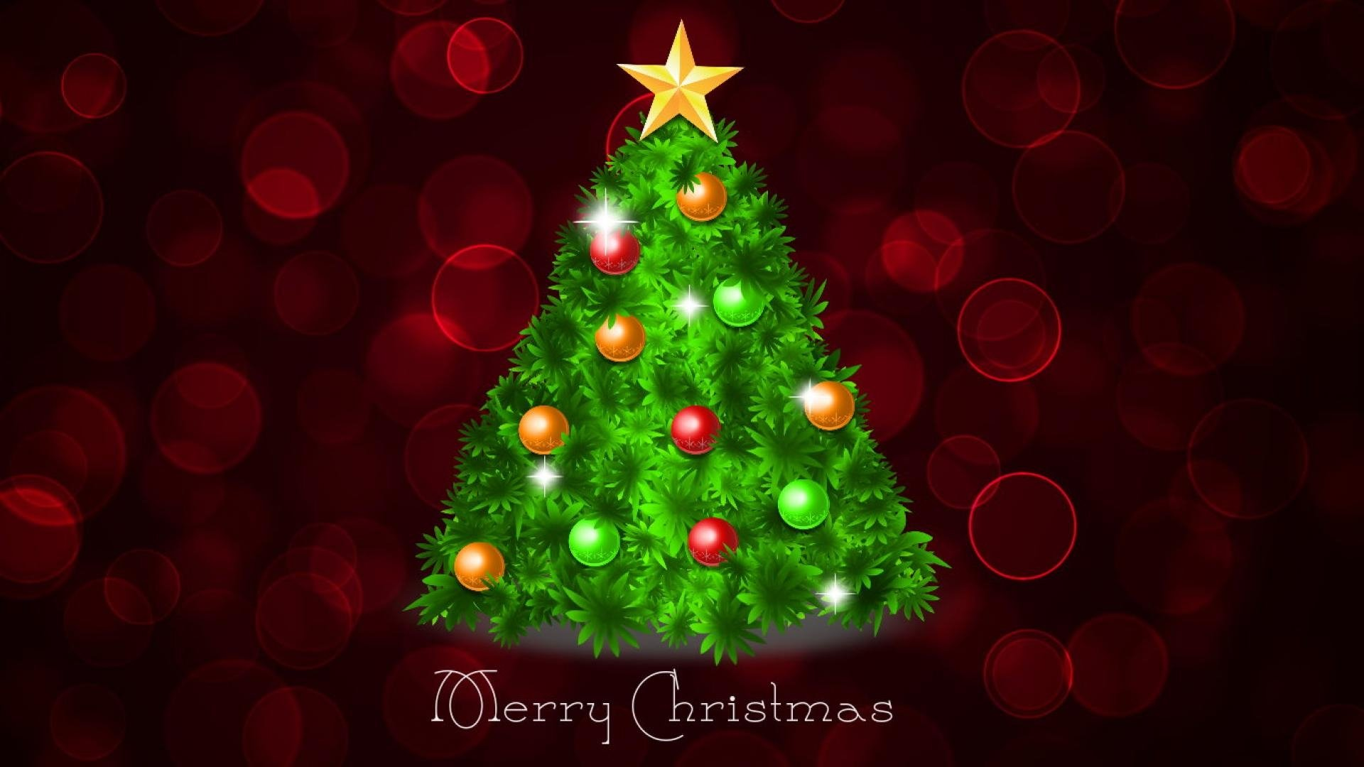 Holiday - Christmas  Merry Christmas Christmas Ornaments Holiday Christmas Tree Red Artistic Wallpaper