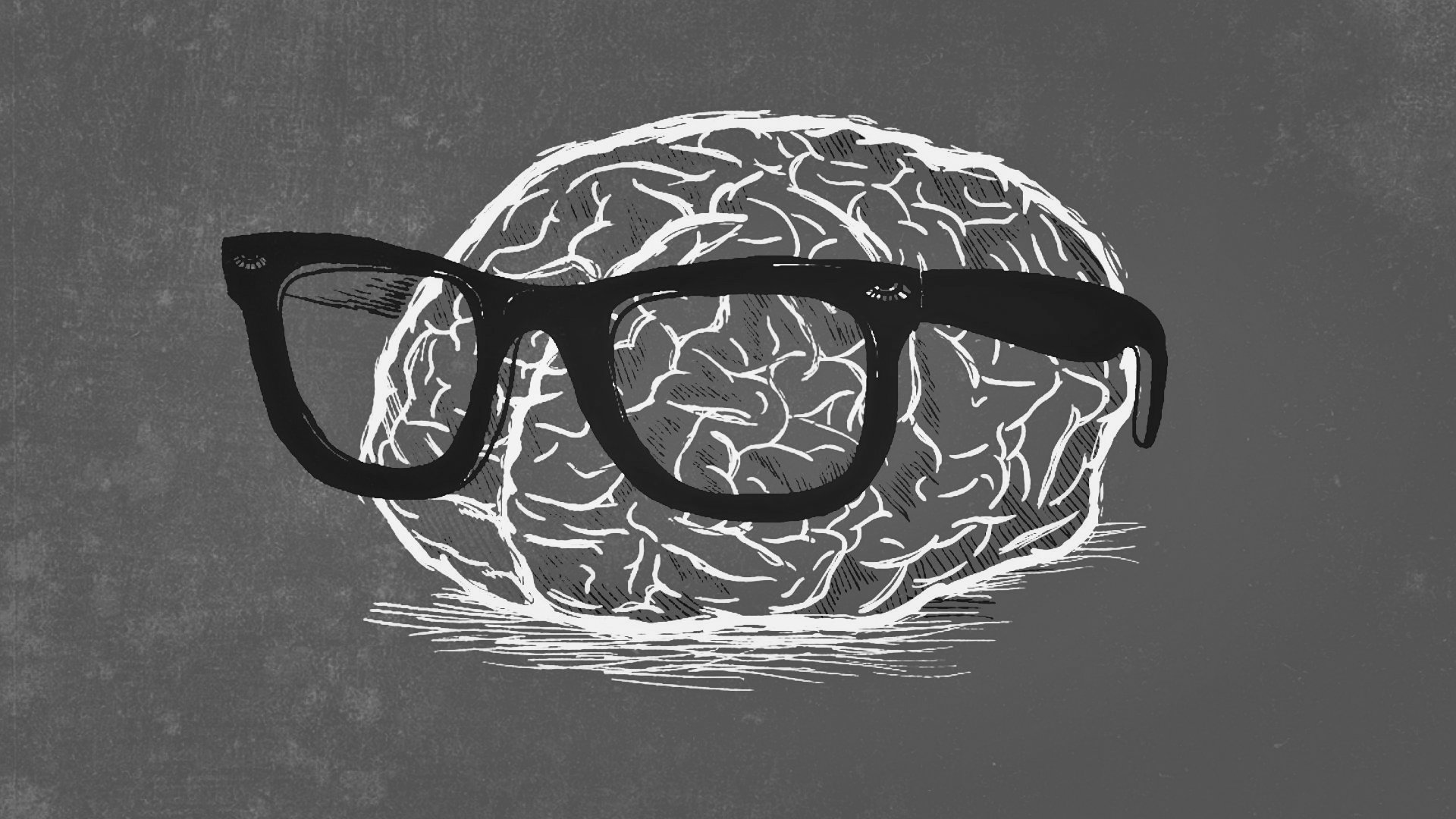 Nerd Brain Gray Color Full HD Wallpaper And Background Image
