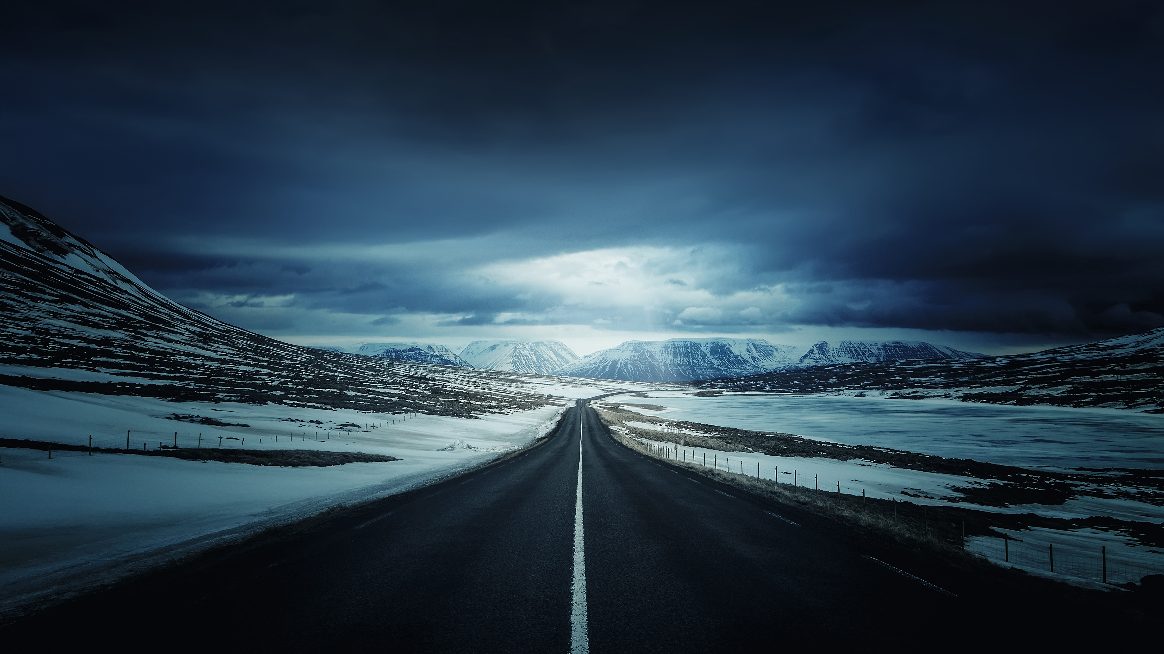 Road 4k Ultra HD Wallpaper
