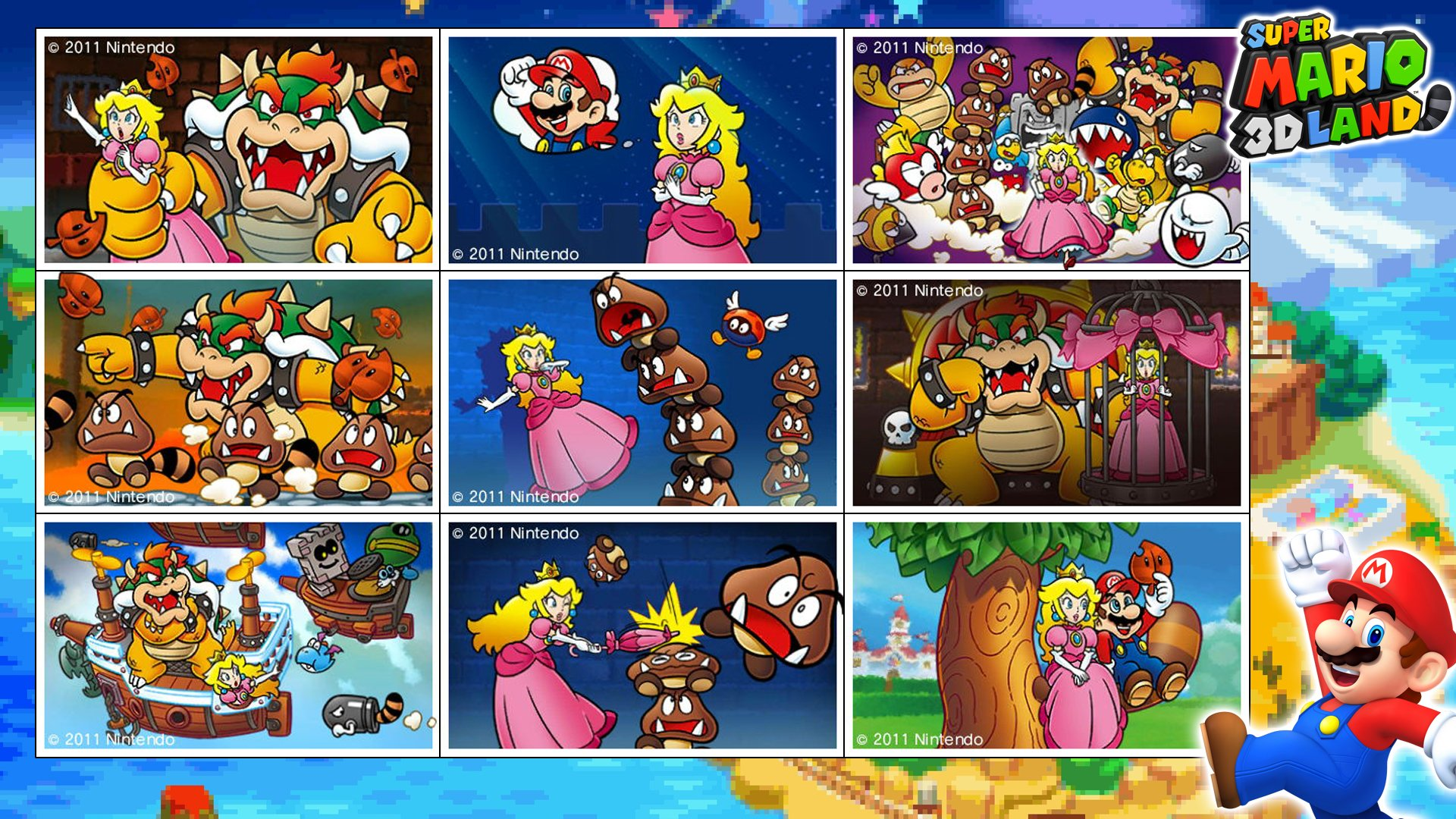 mario 3d land hd wallpaper and background image