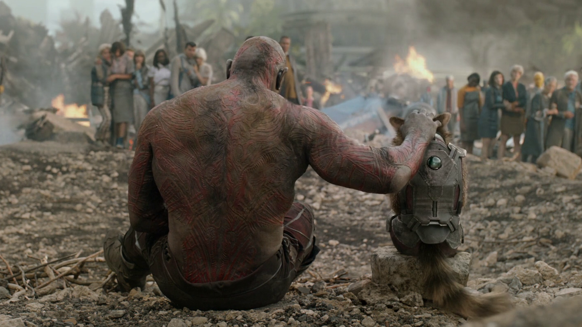 Movie - Guardians of the Galaxy  Dave Bautista Rocket Raccoon Drax The Destroyer Wallpaper