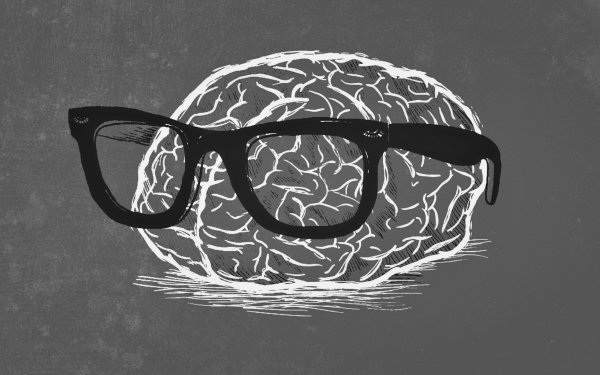 Humor Nerd Brain Weird Gray HD Wallpaper | Background Image