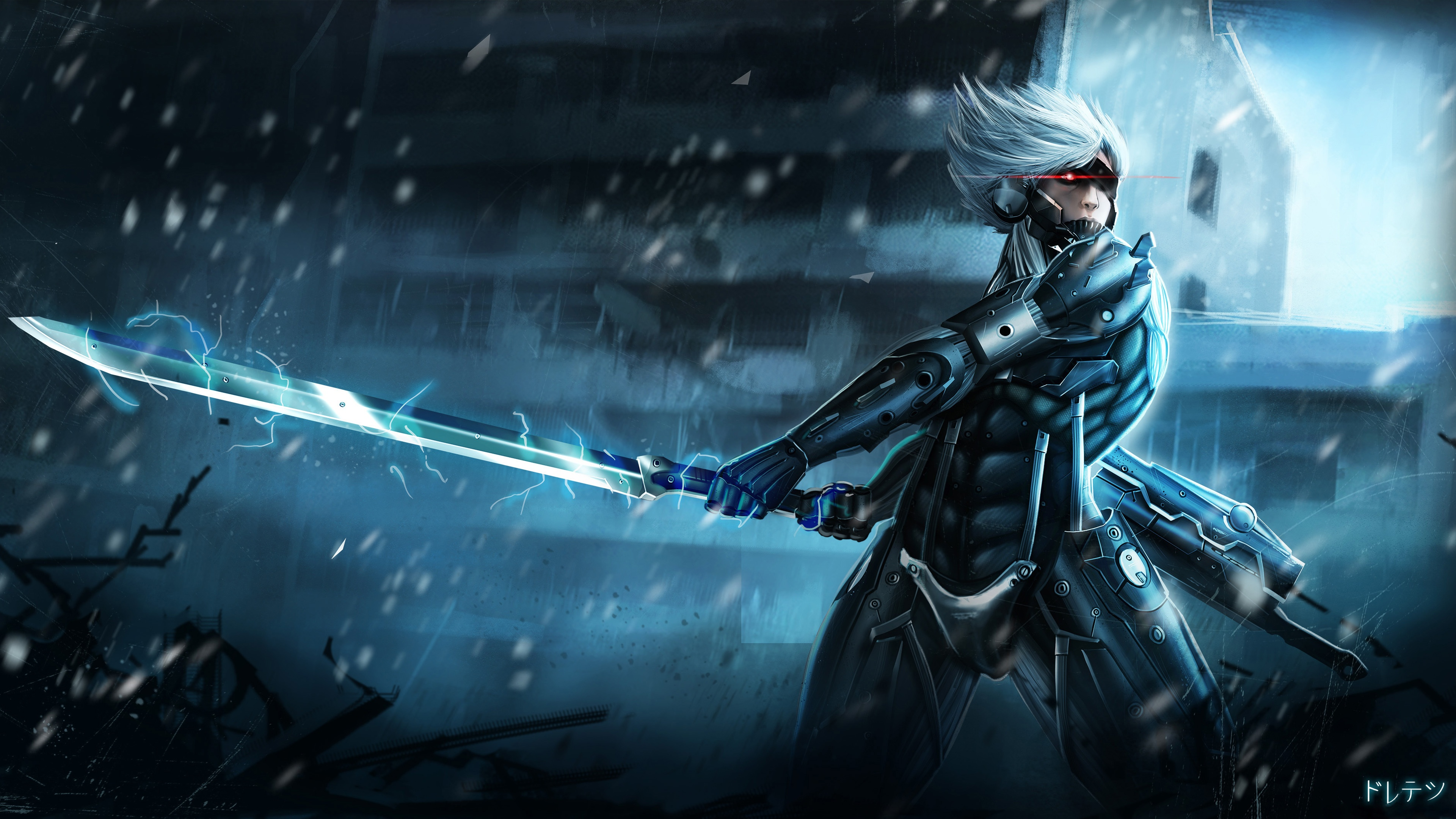 Metal gear rising raiden 4k ultra hd wallpaper and background image video game metal gear rising revengeance wallpaper voltagebd