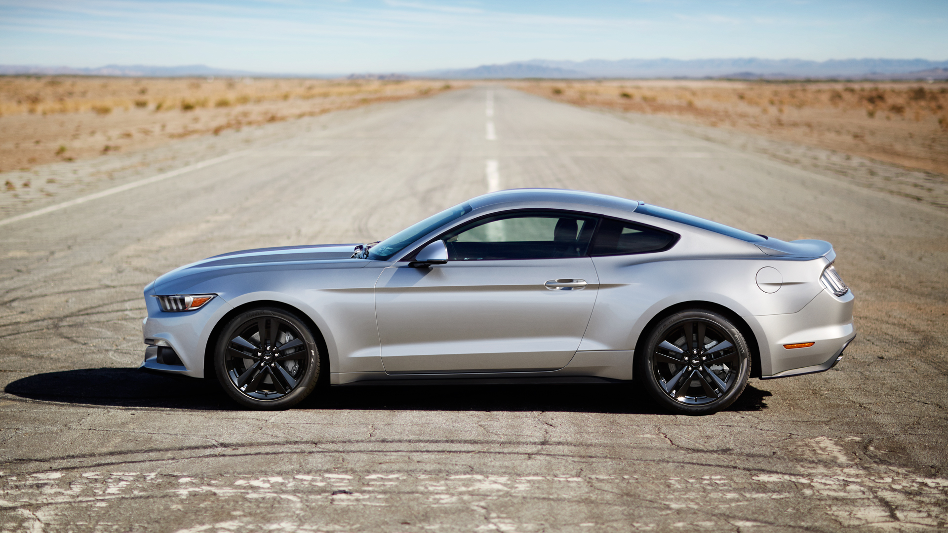 mustang gt premium fastback in ingot silver. full hd wallpaper and