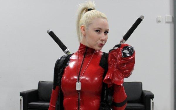 Femmes Cosplay Deadpool Fond d'écran HD | Arrière-Plan