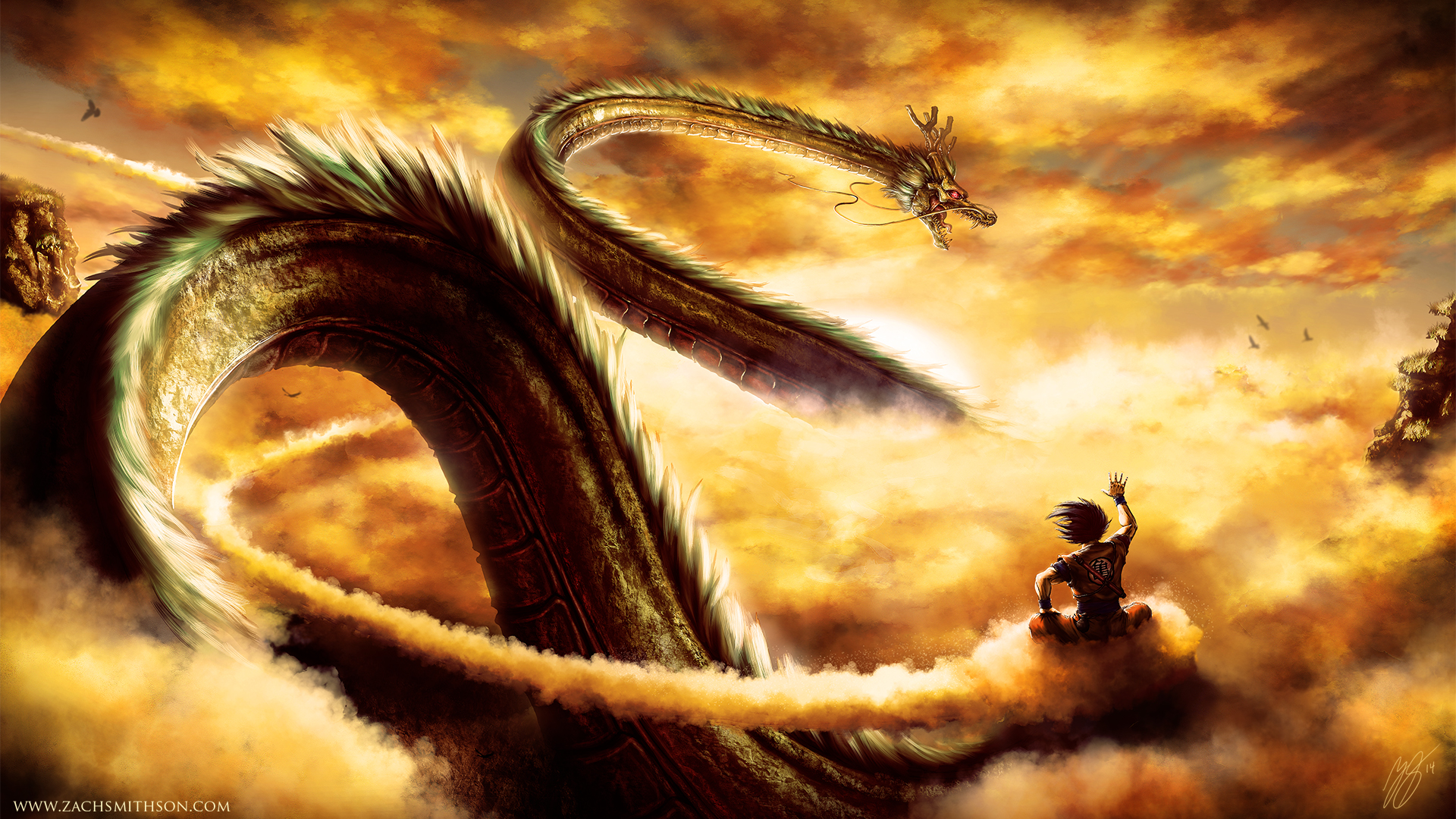 good morning shenron full hd wallpaper and background image
