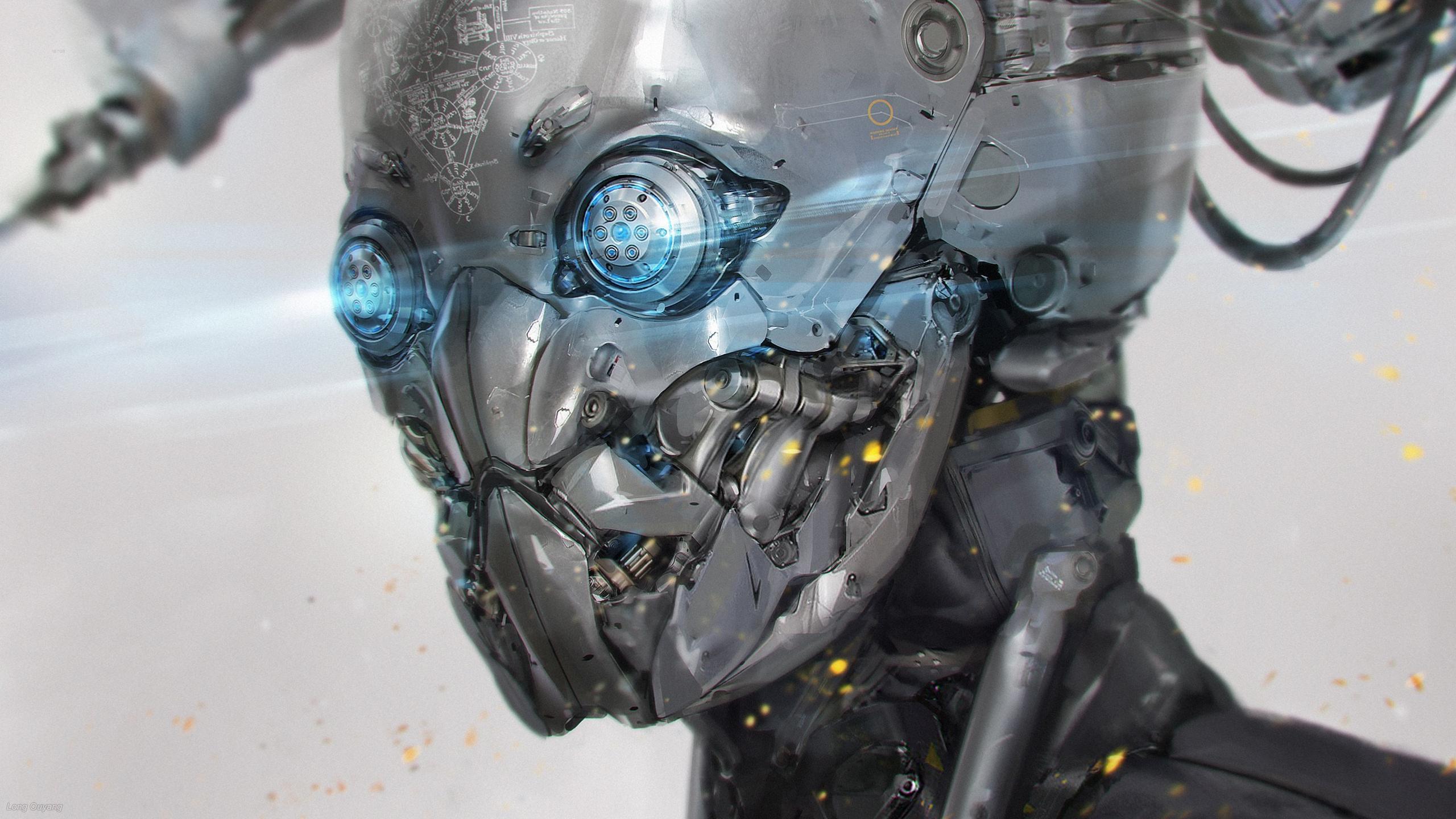 Sci Fi Wallpaper 2560x1440: Robot Computer Wallpapers, Desktop Backgrounds