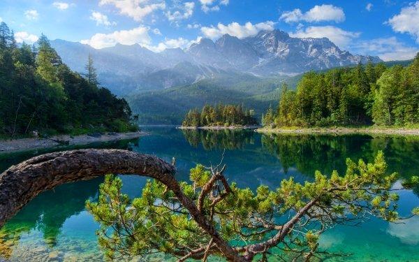 Earth Landscape Mountain Lake Bavaria Germany HD Wallpaper | Background Image