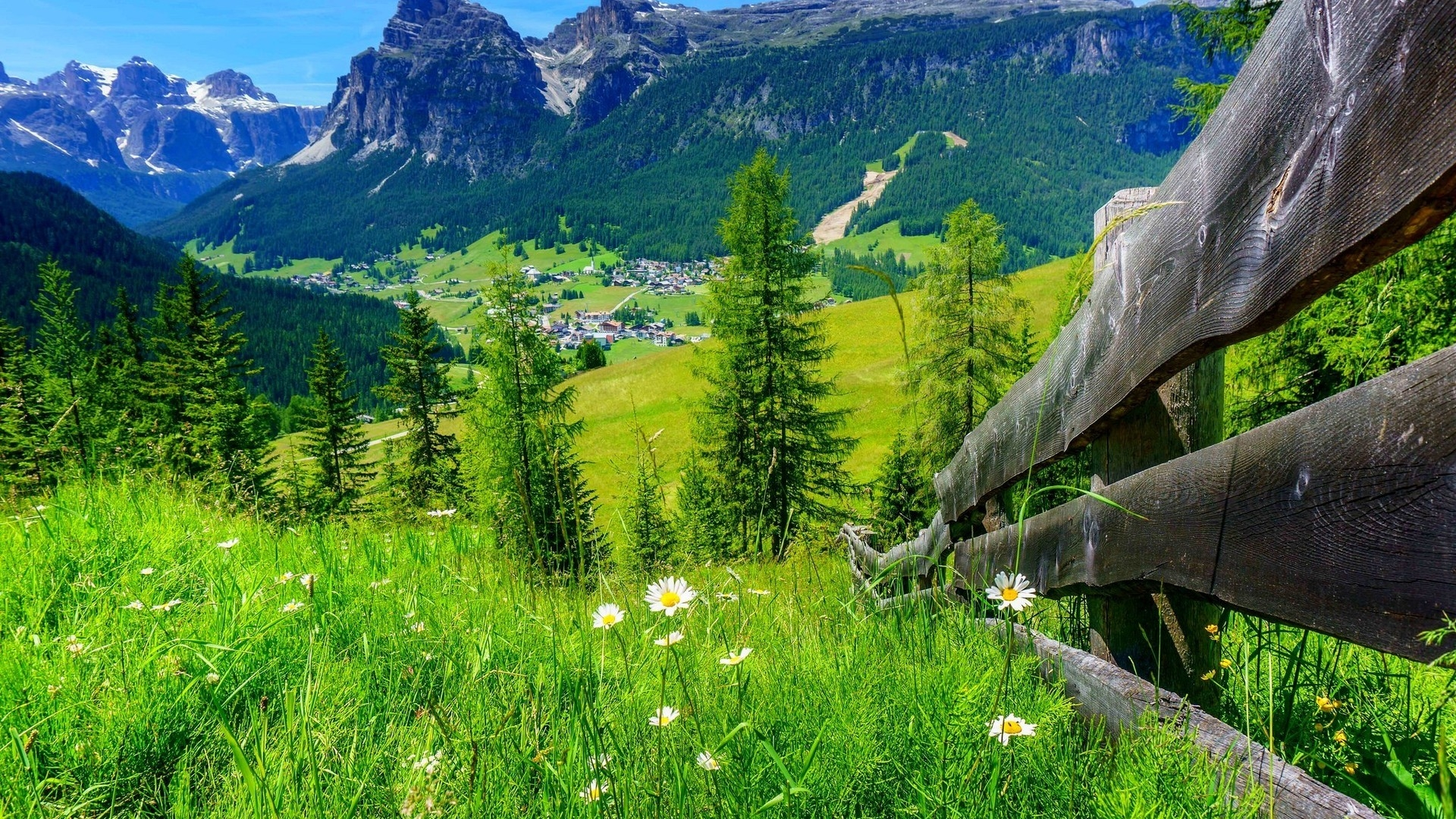 Spring Mountain Full HD Wallpaper And Background Image