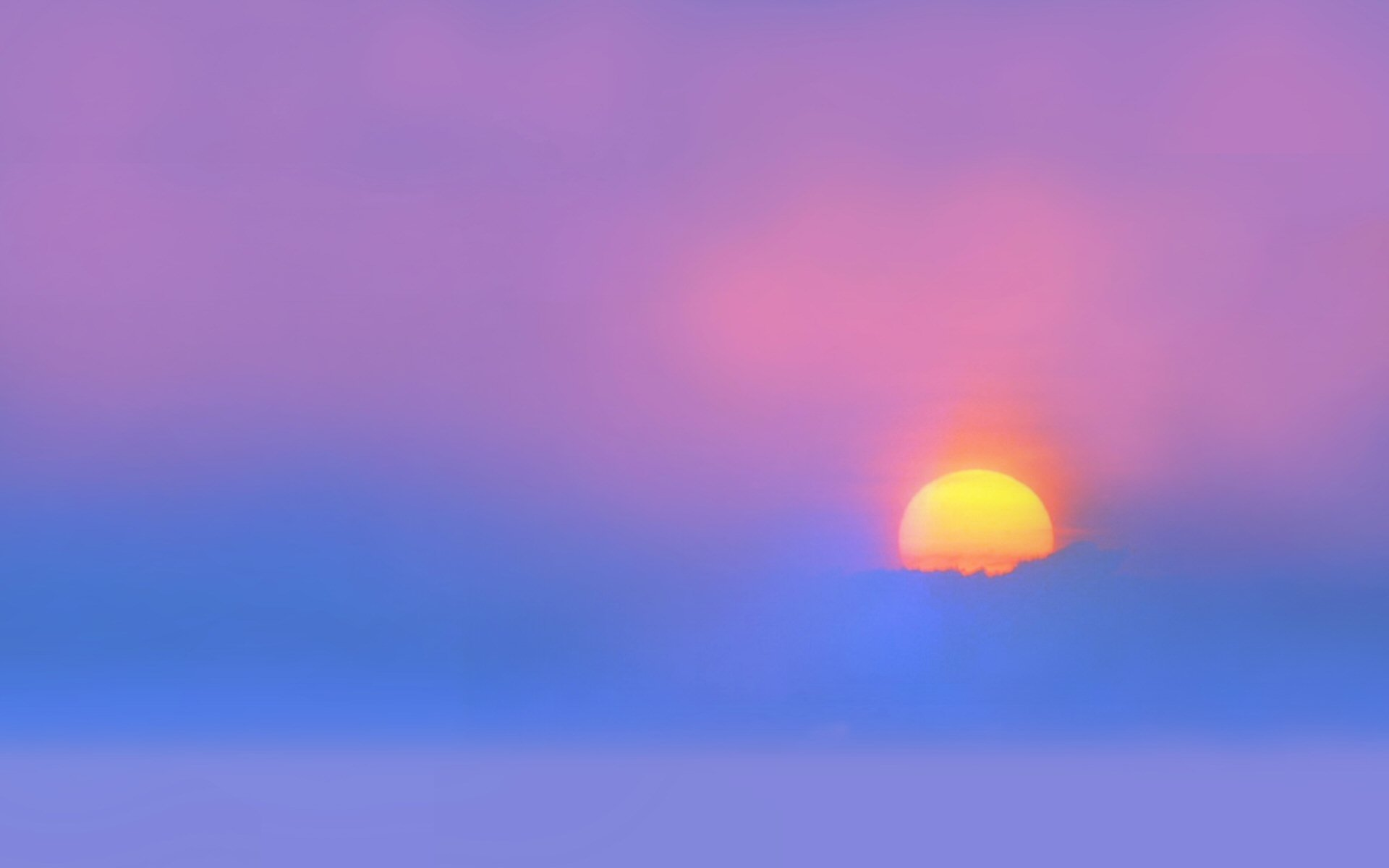 Terre/Nature - Coucher de Soleil  Brouillard Ciel Scénique Horizon Pastel Lever de Soleil Fond d'écran