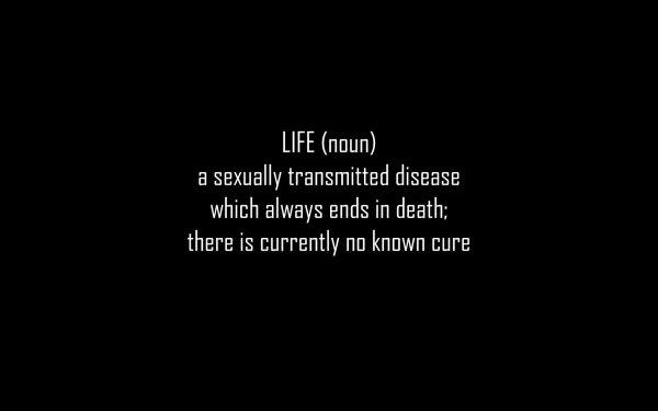 Humor Dark Death Definition Text HD Wallpaper | Background Image